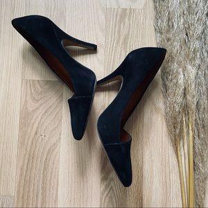 MADEWELL Mira Heel | Black Suede size 7.5